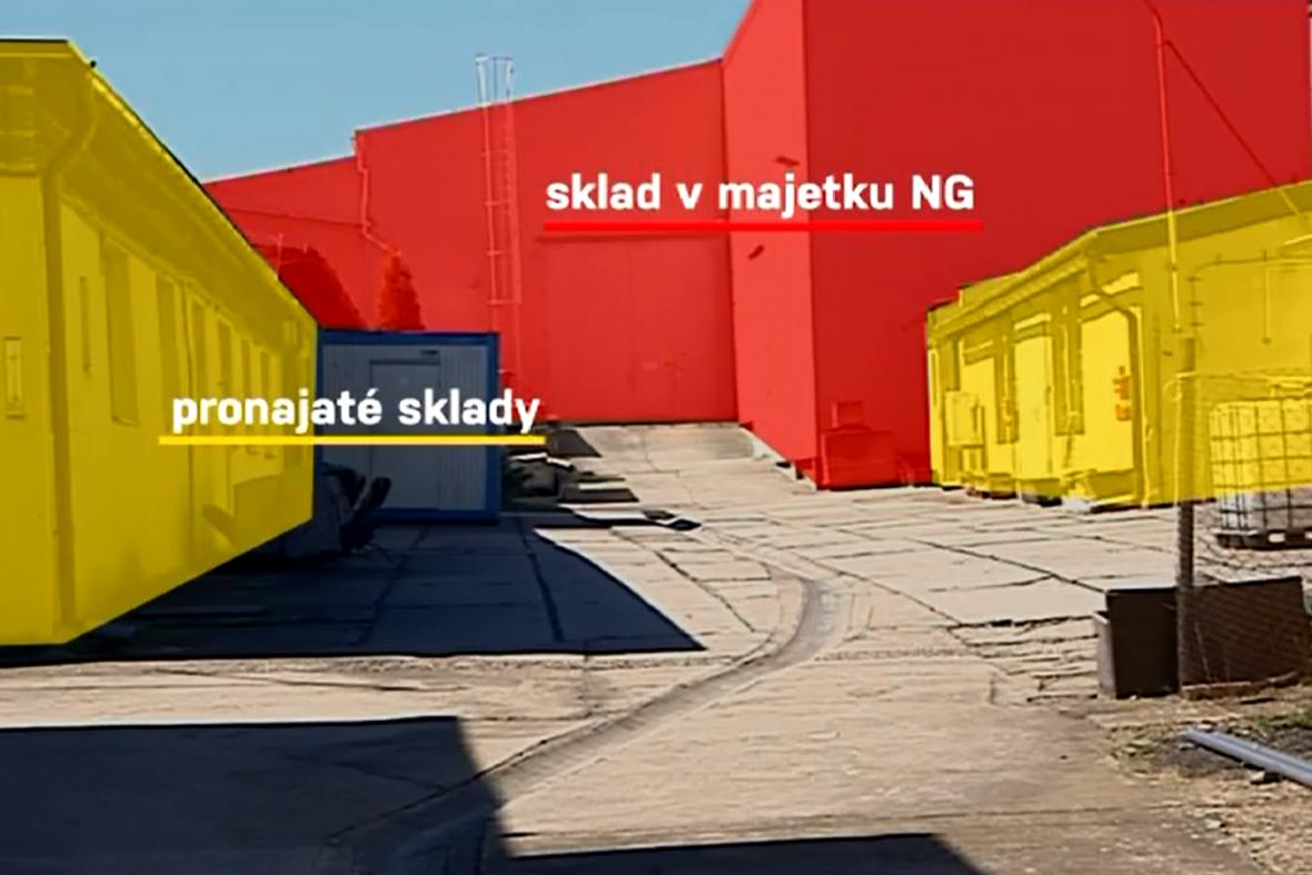 Sklady Národní galerie u Neratovic