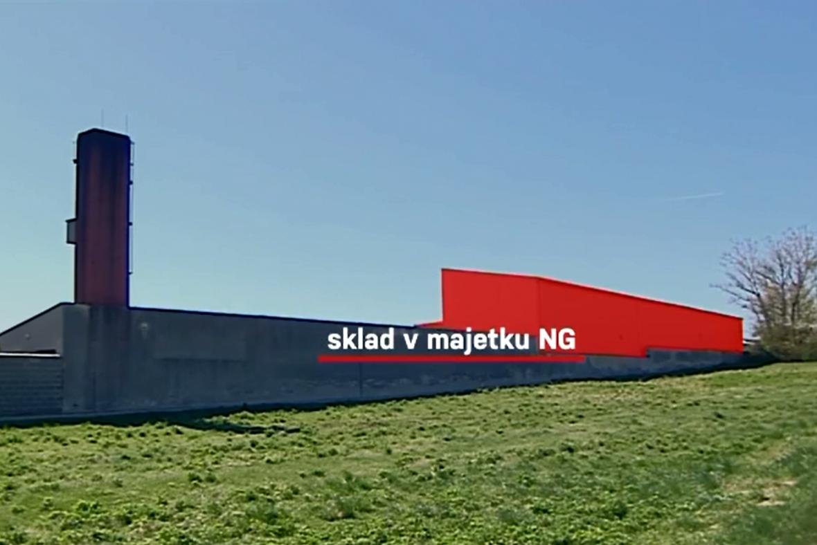 Sklad Národní galerie u Neratovic