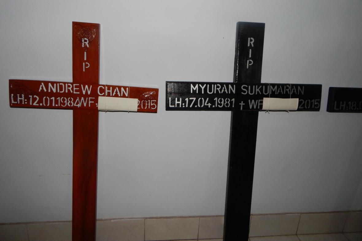 Kříže pro popravené za pašování drog