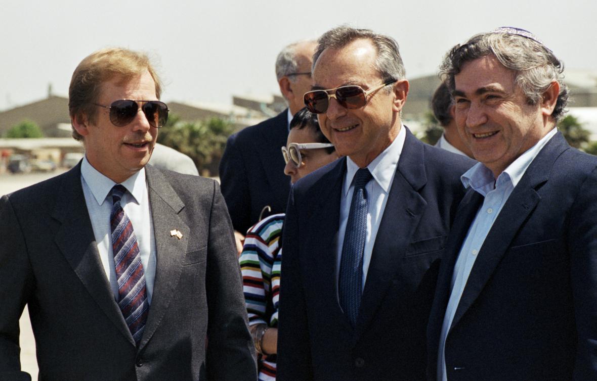 Václav Havel v Izraeli