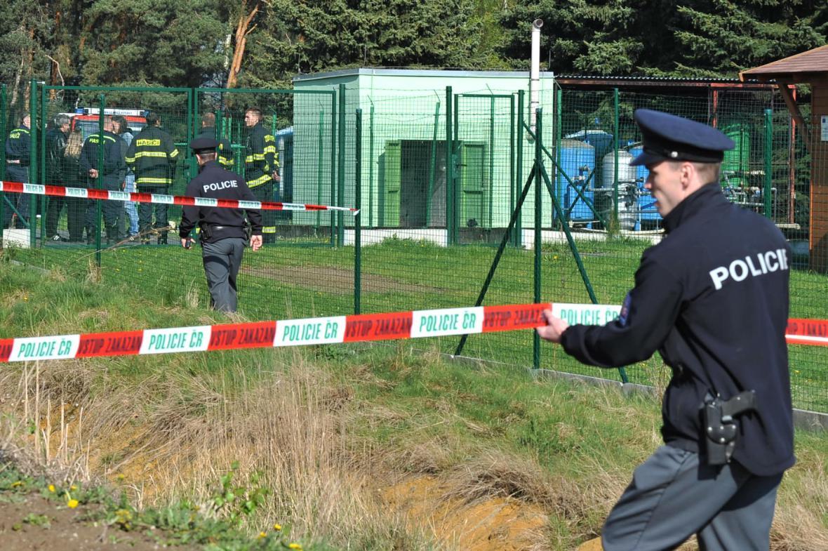 Policie na místě neštěstí