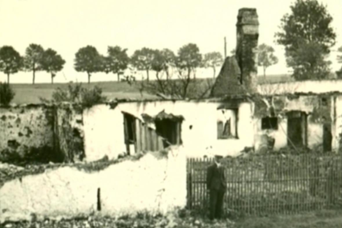 Vypálený dům v Leskovicích