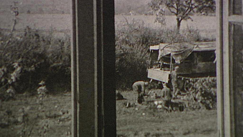 Snímek německých vojáků v Krči