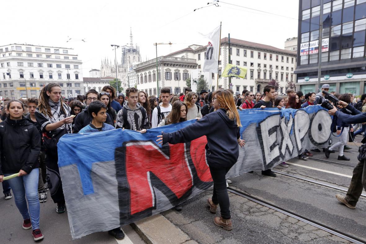 Milánské protesty proti výstavě Expo 2015