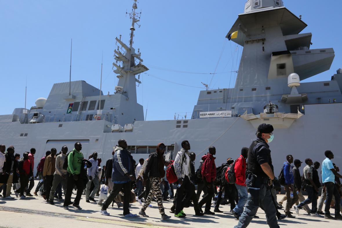 Uprchlíci na jihu Itálie