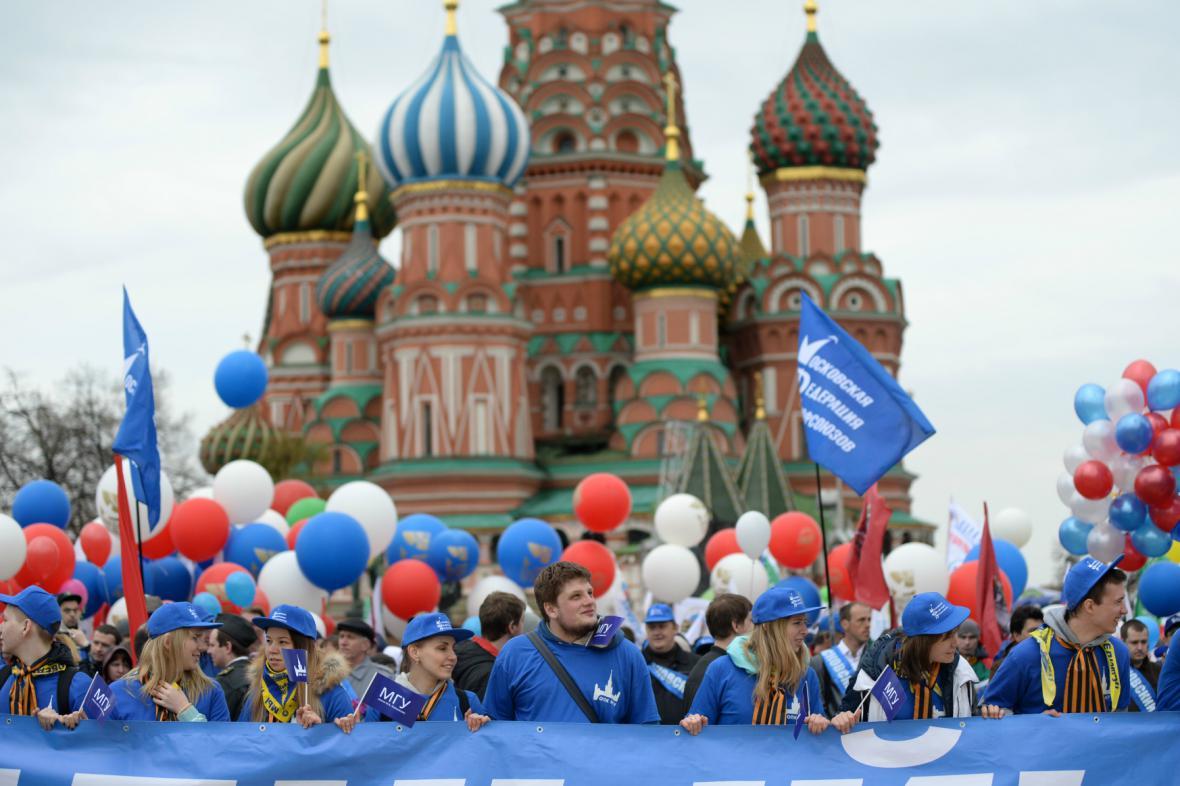Moskva slaví První máj