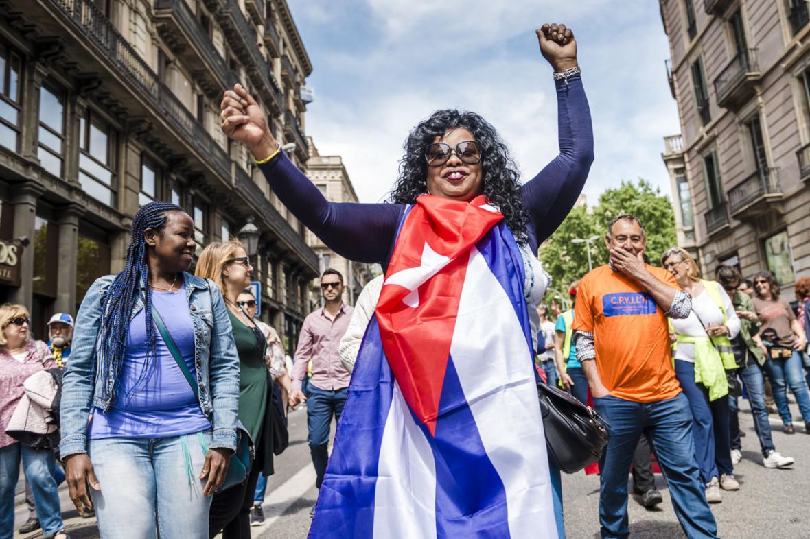 První máj v Barceloně