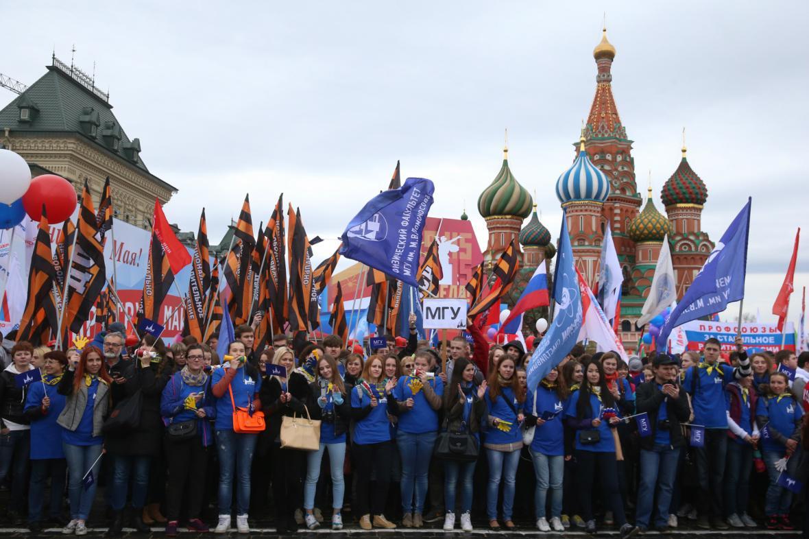 Prvomájový pochod v Moskvě
