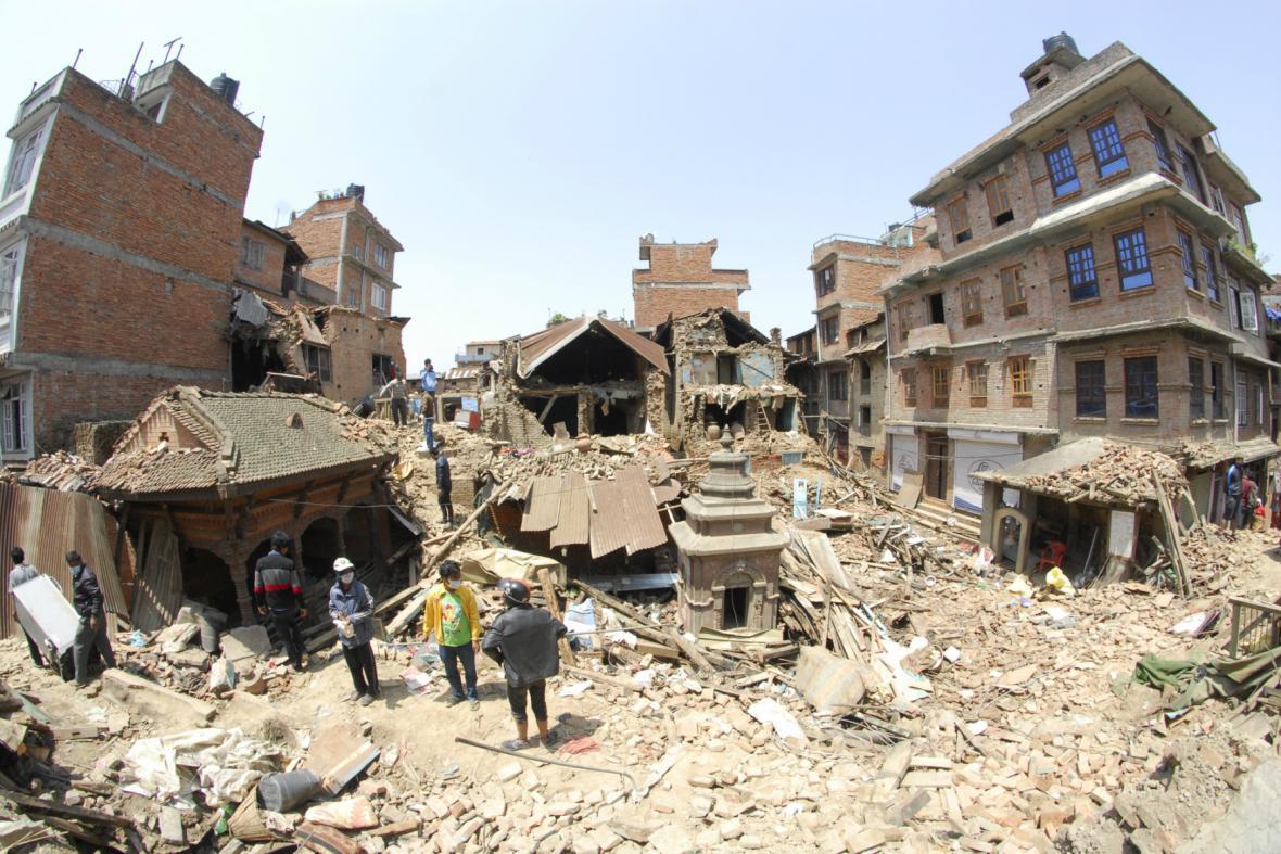 Zdevastovaný Nepál