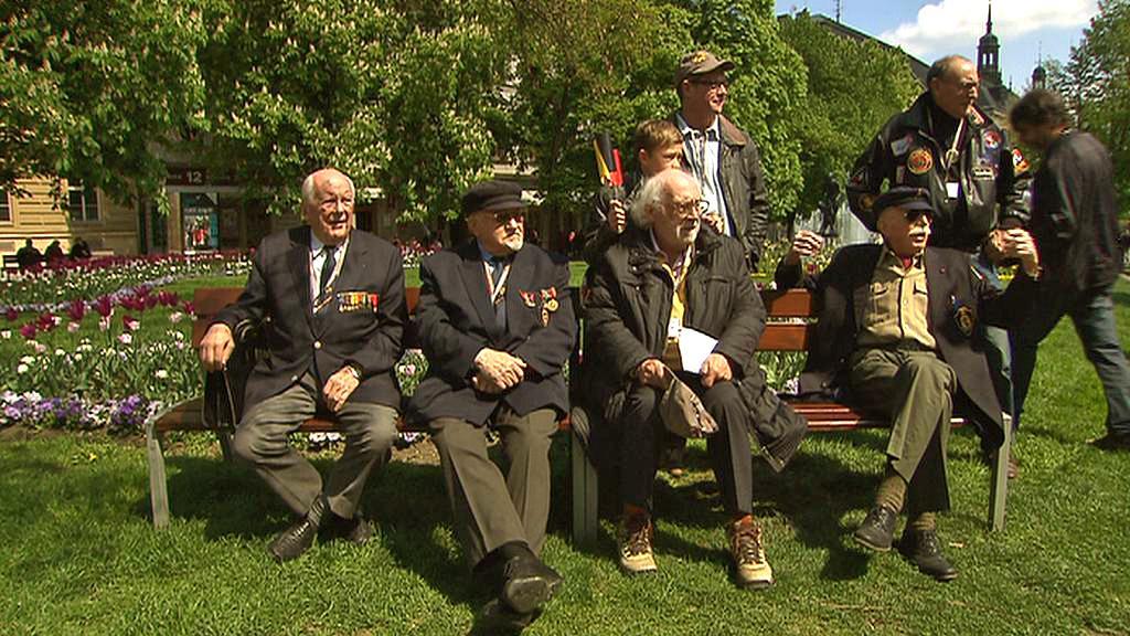 Belgičtí váleční veteráni v Plzni