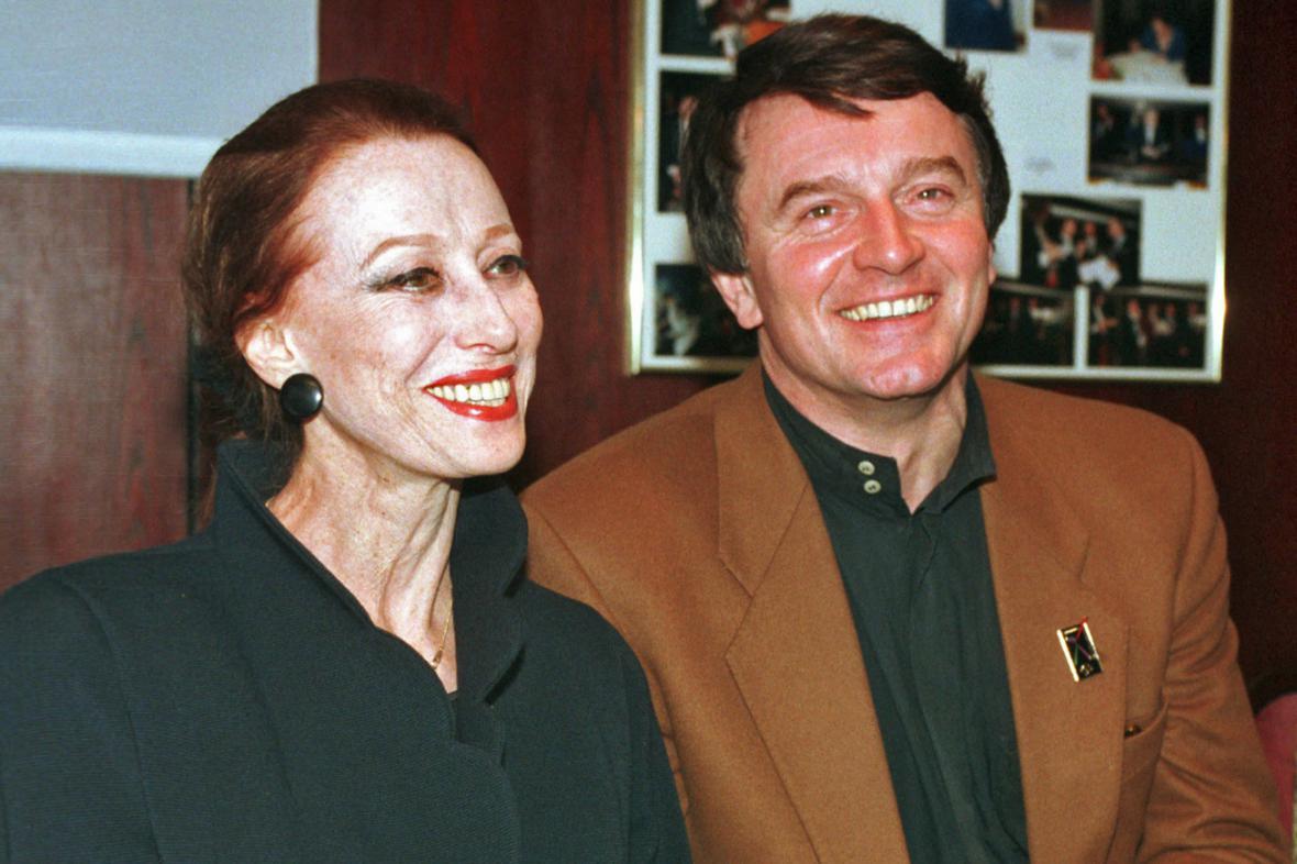 Maja Plisecká a Vlastimil Harapes v únoru 1997
