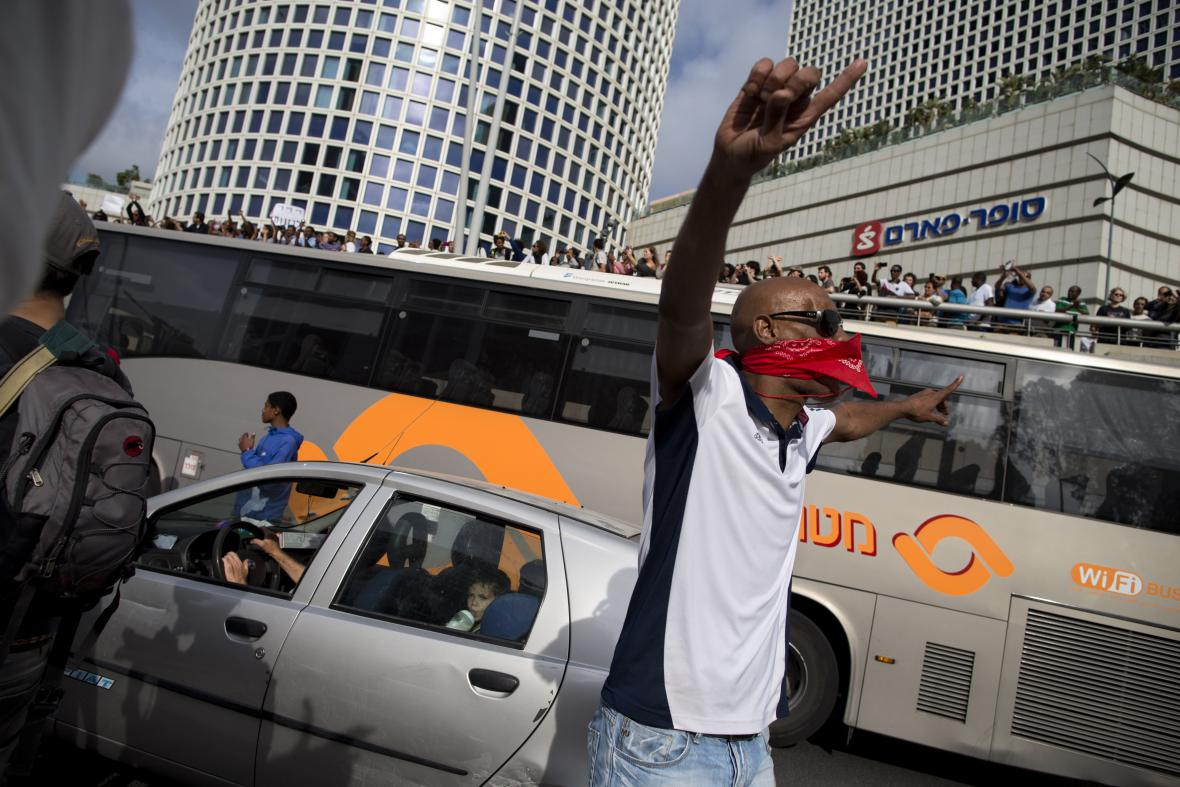 Izraelci etiopského původu demonstrovali proti rasové diskriminaci