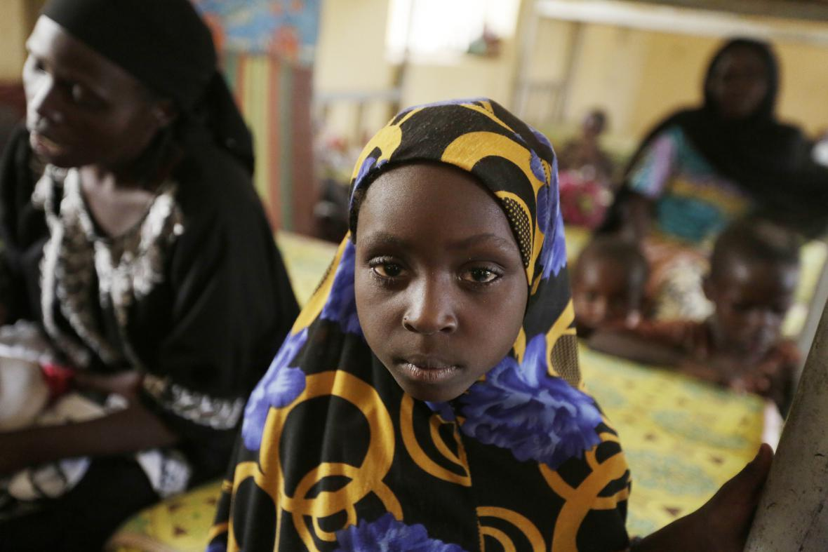 Osvobozené Nigerijky a jejich děti