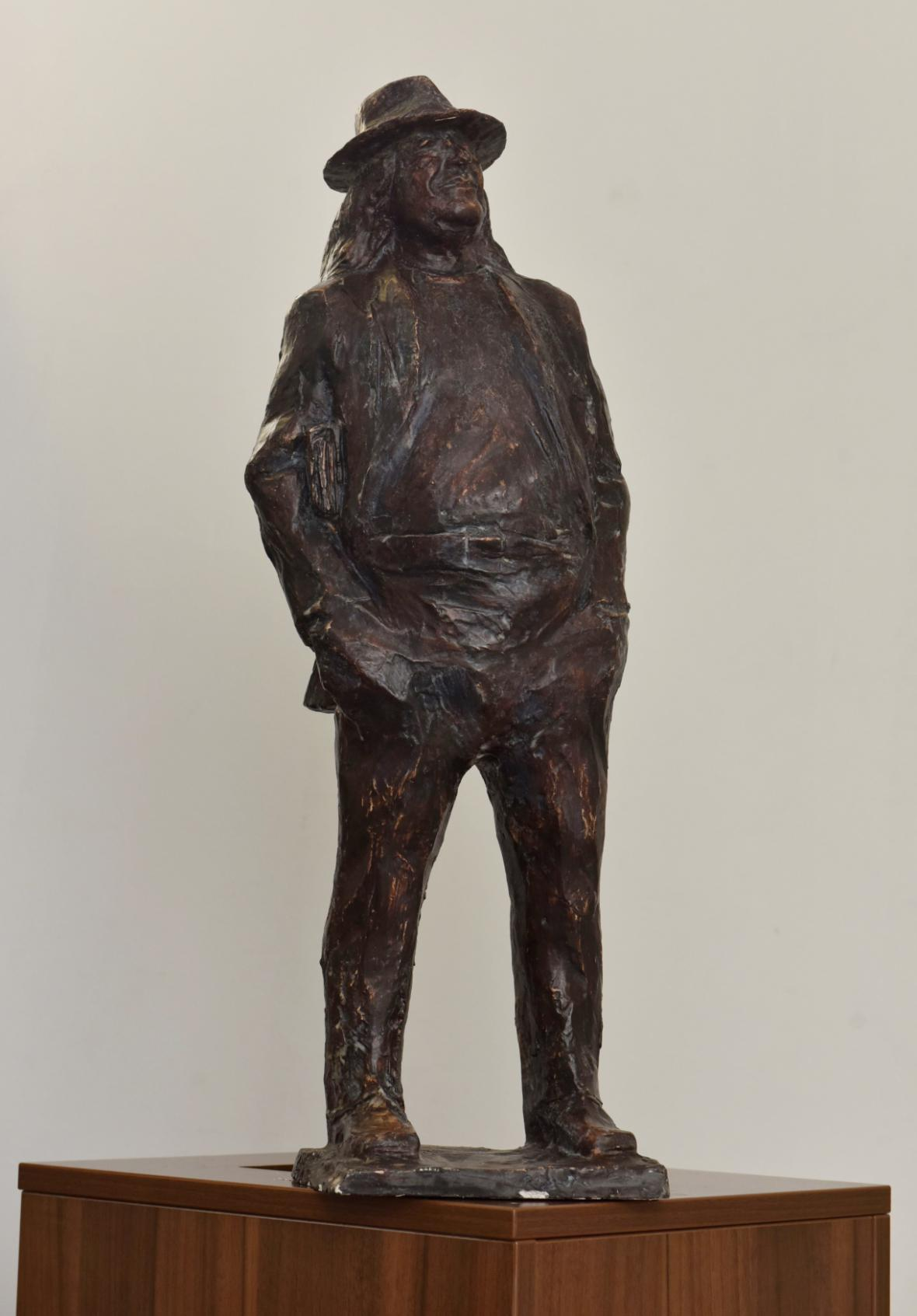 Model sochy Ivana Magora Jirouse pro most v Plzni