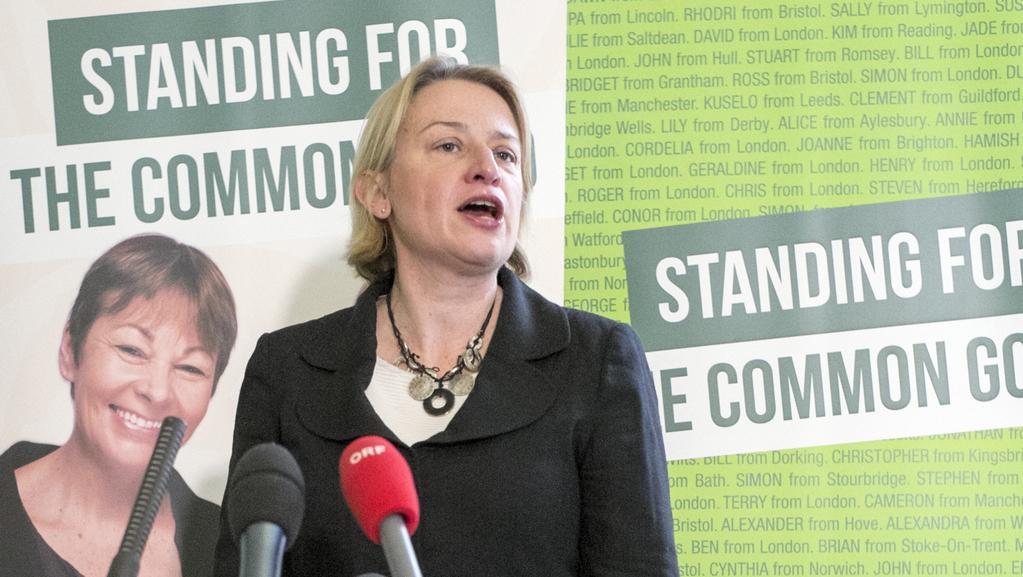 Šéfka britské Strany zelených Natalie Bennetová