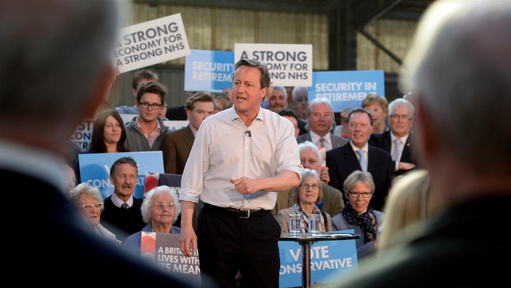 David Cameron na mítinku konzervativců