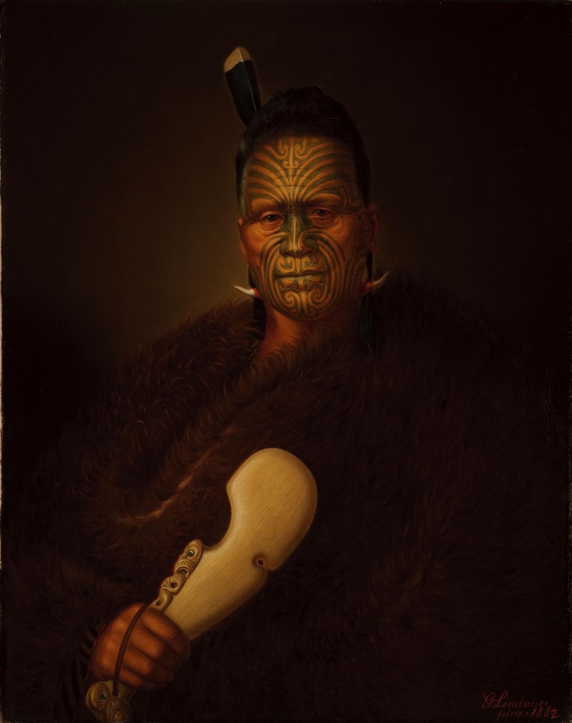 Gottfried Lindauer / Tawhiao Matutaera Potatau Te Wherowhero, 1882