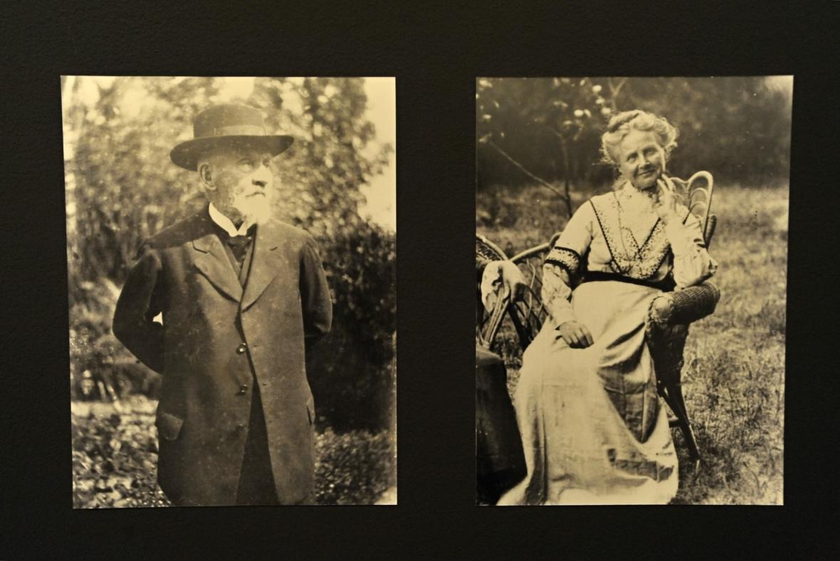 Malíř Gottfried Lindauer a jeho manželka Rebecca