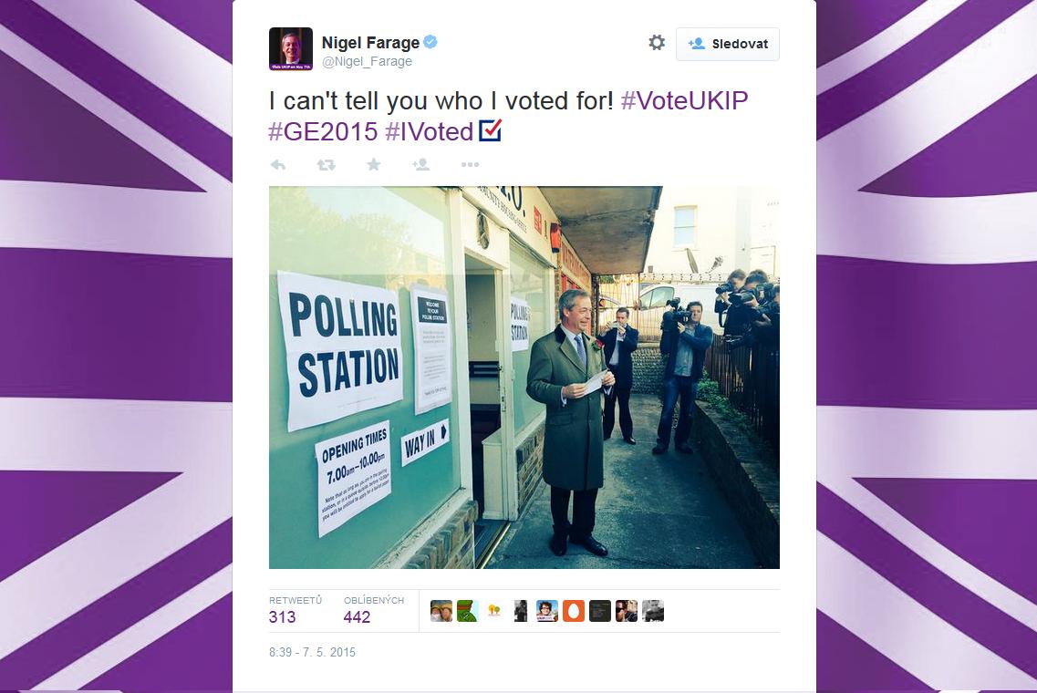 U uren už byl i šéf UKIP Nigel Farage
