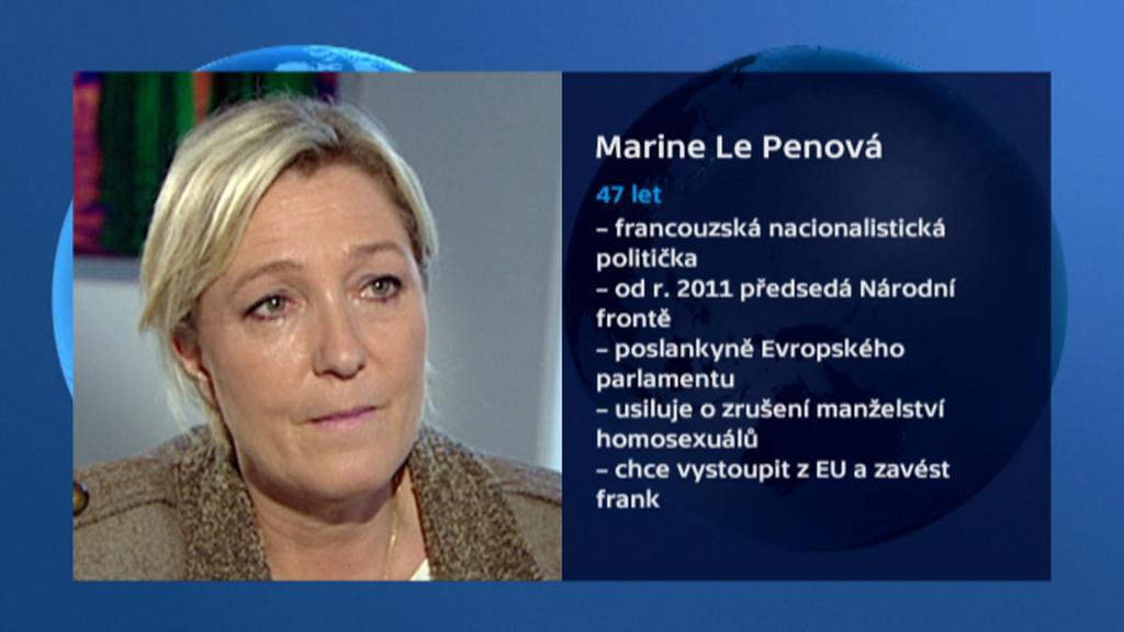Marine Le Pen, předsedkyně francouzské Národní fronty