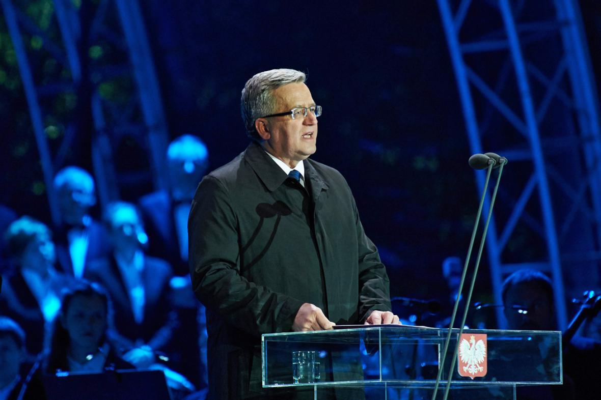 Projev Bronislawa Komorowského na Westerplatte