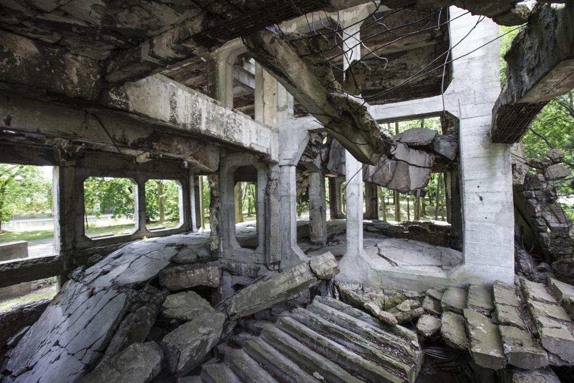 Ruiny kasáren na Westerplatte