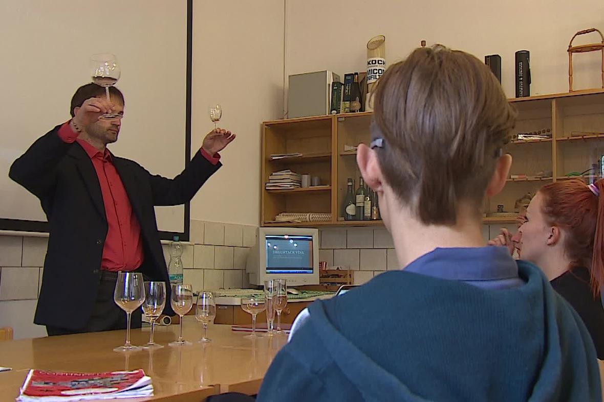 Studenti vinařské školy