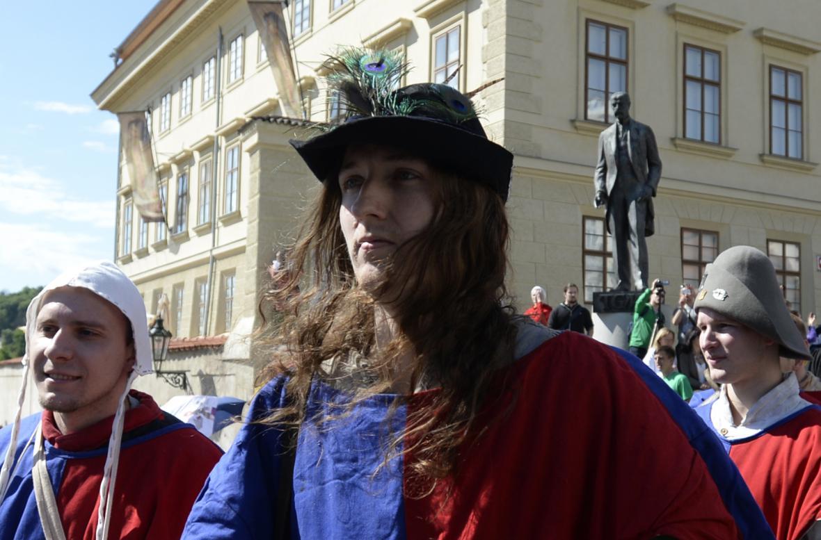 Zahájení světového turnaje v boji na Hradčanech