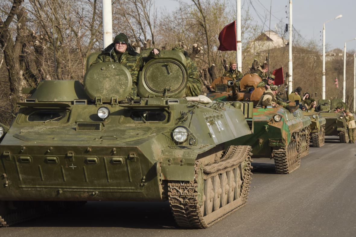 Proruští rebelové na Ukrajině