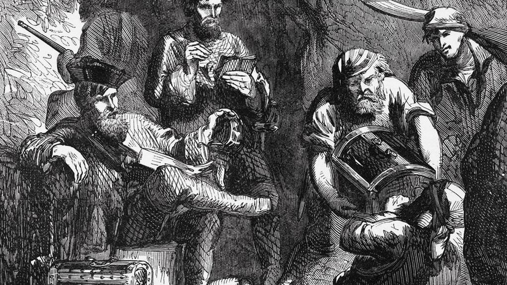 Skotský bukanýr William Kidd na ilustraci