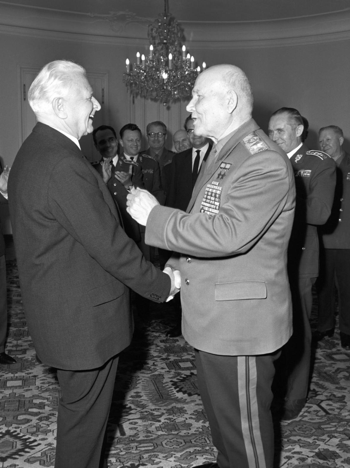 Ivan S. Koněv a Ludvík Svoboda