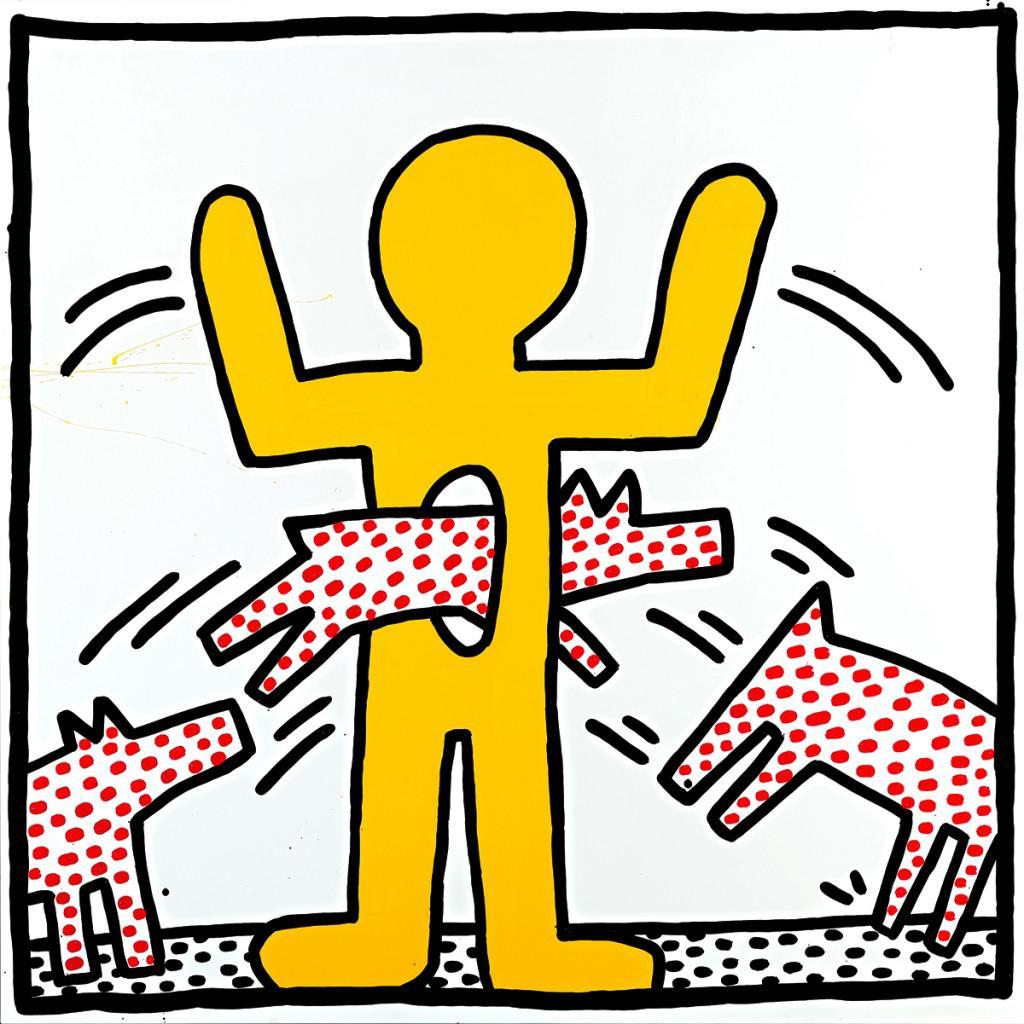 Z výstavy Keith Haring / Proti srsti