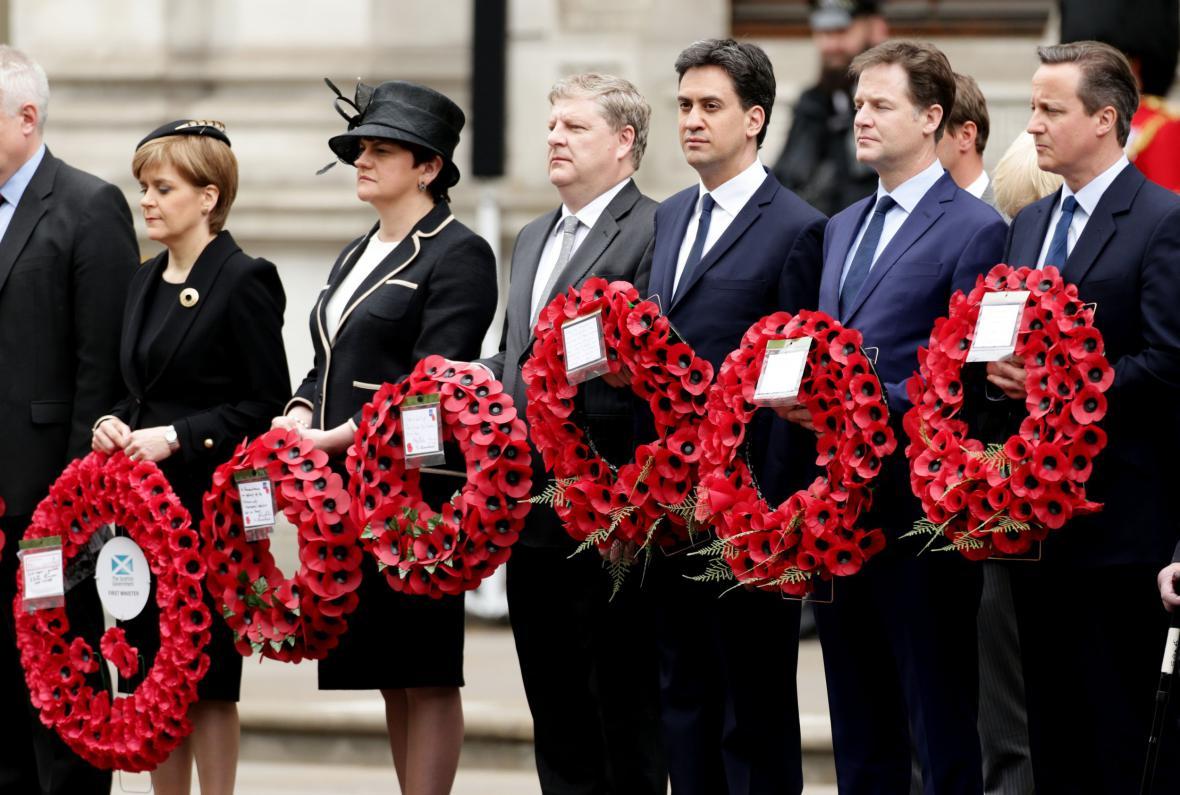 Britské politické špičky uctily památku padlých ve druhé světové válce