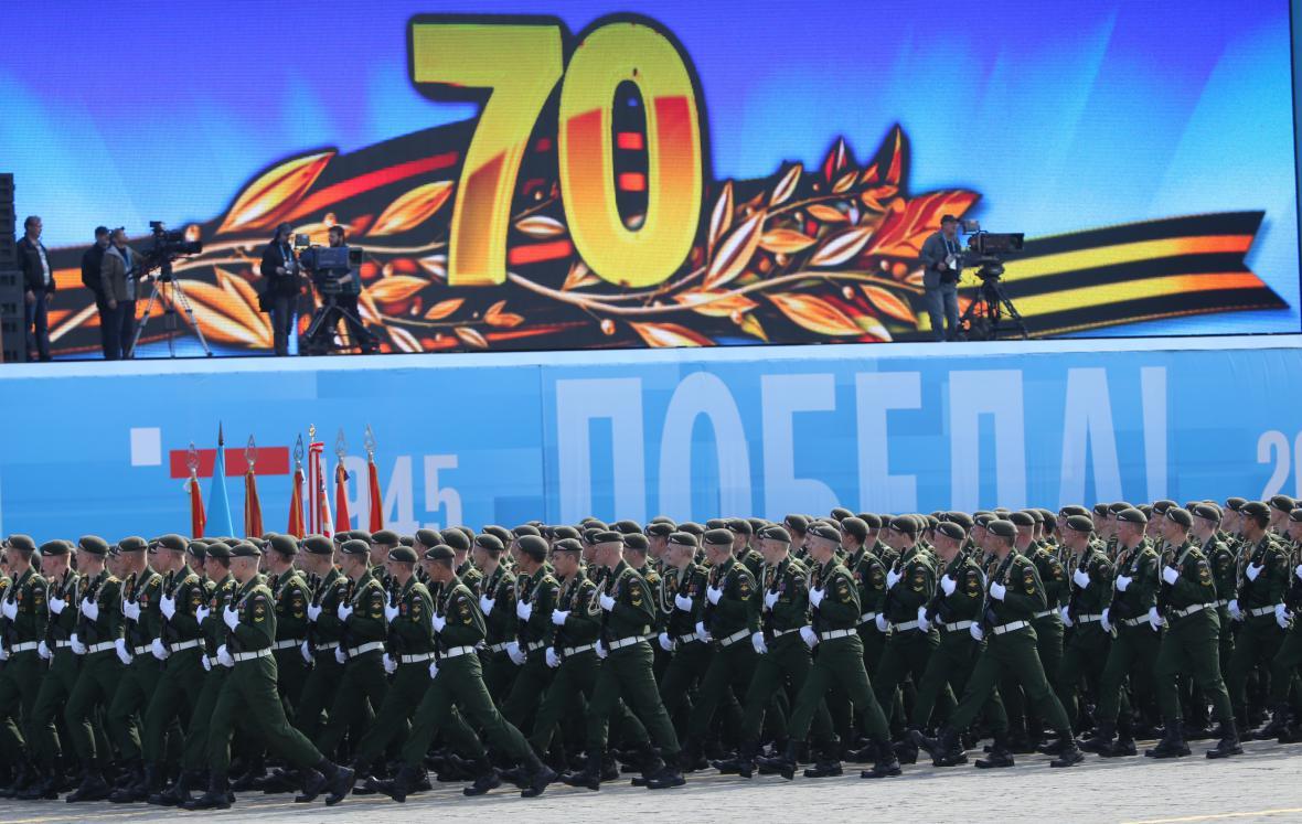 Vojenská přehlídka na Rudém náměstí v Moskvě