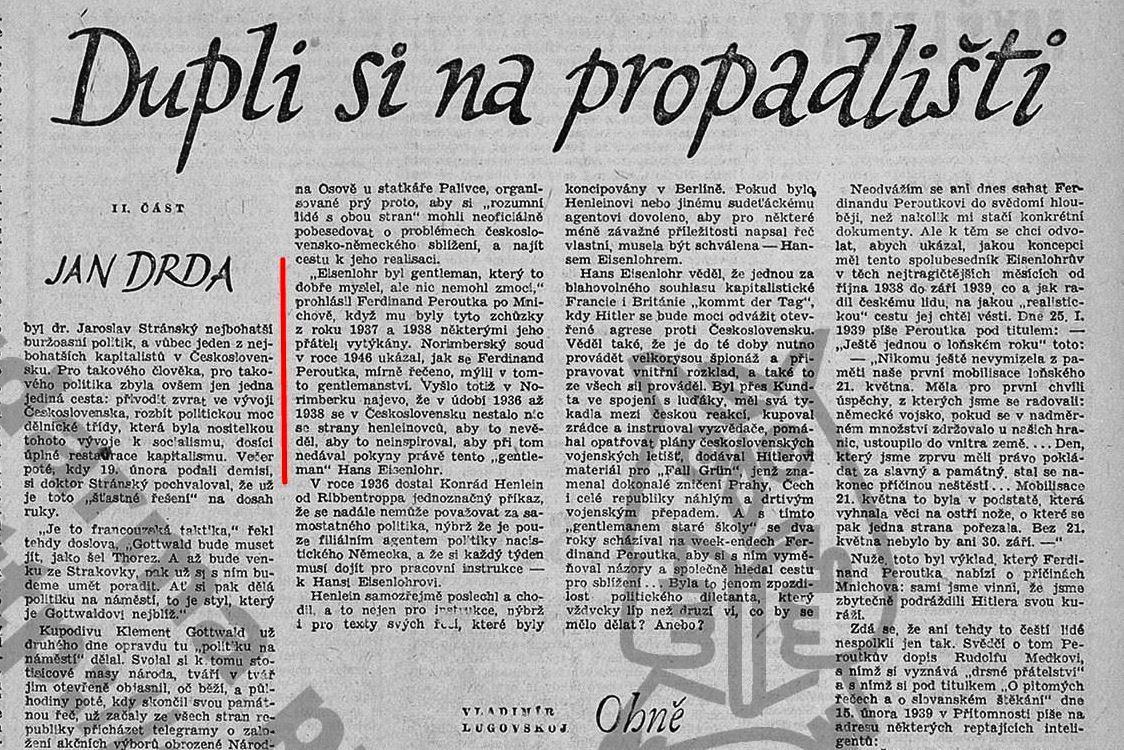 Drdův text o Ferdinandu Peroutkovi