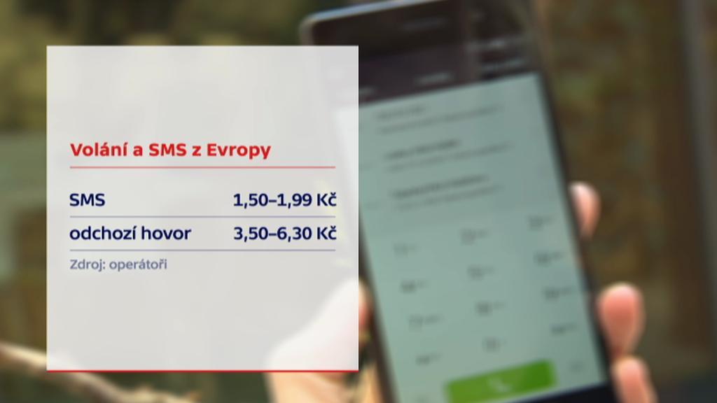 Volání a SMS z Evropy
