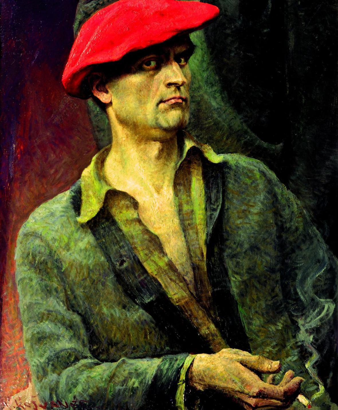 Vlastimil Košvanec / Autoportrét (1920)