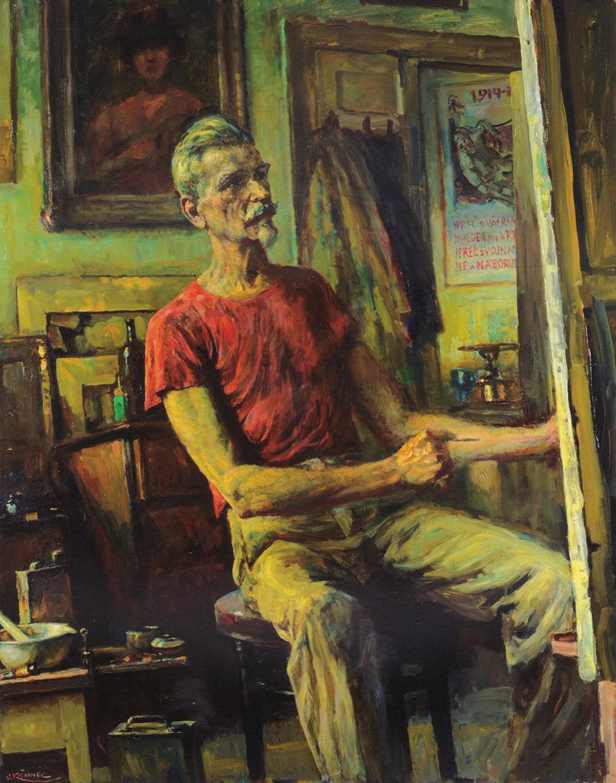 Vlastimil Košvanec / Autoportrét (1957)