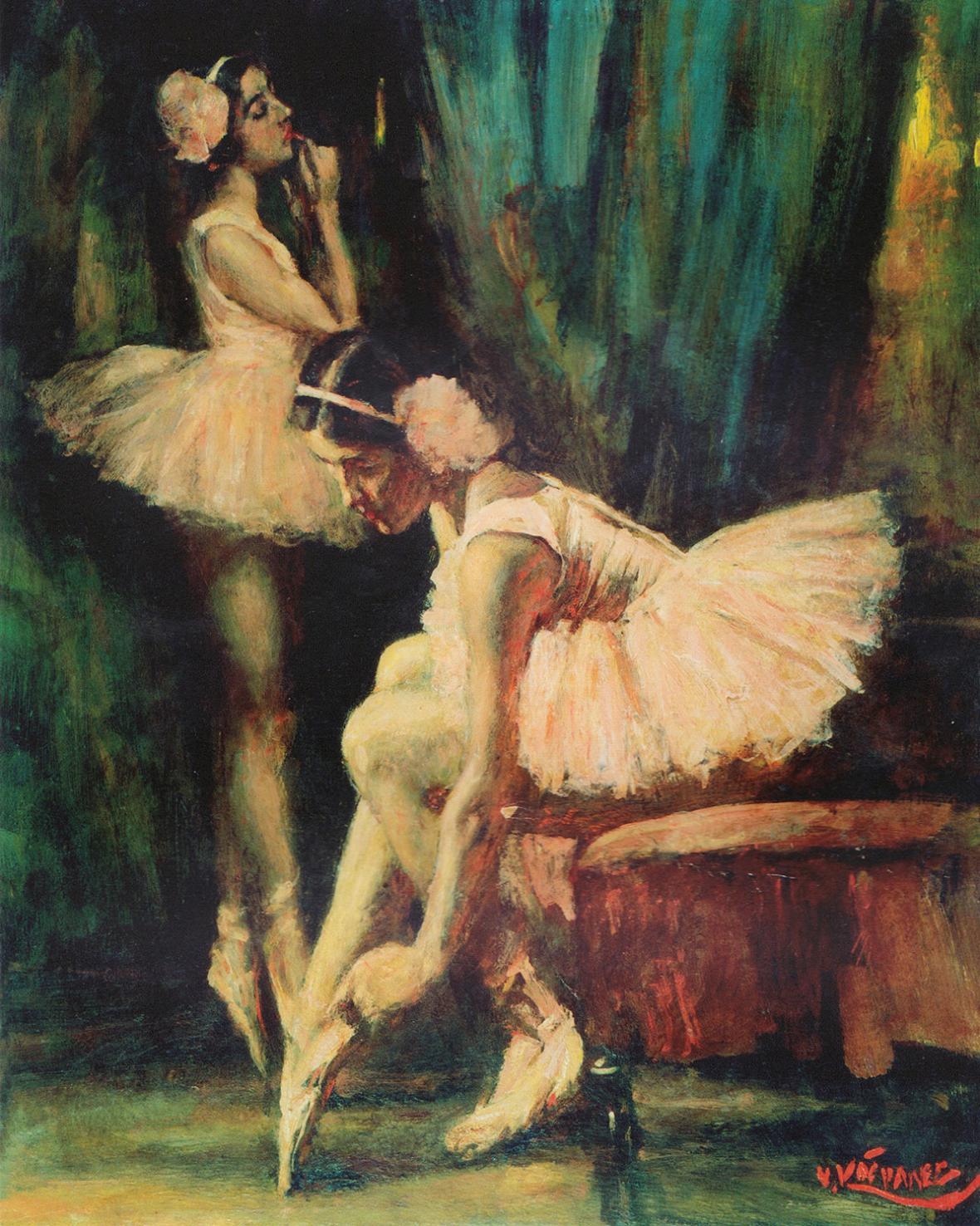 Vlastimil Košvanec / Tanečnice (1925)