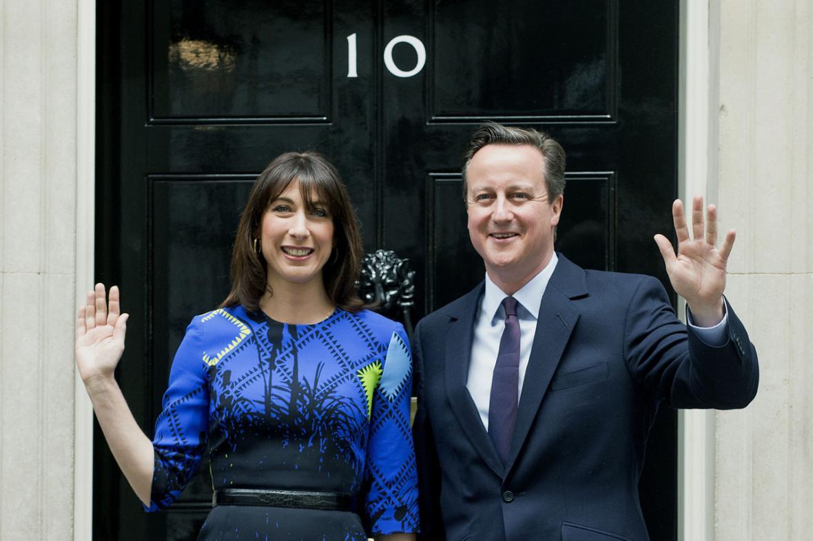 David Cameron s manželkou