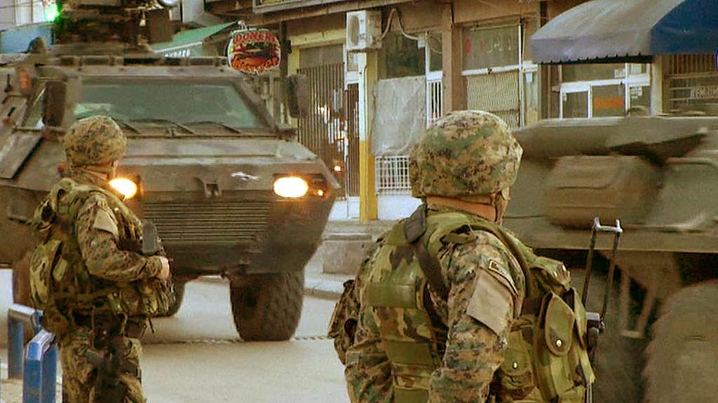 Zásahové jednotky v ulicích Kumanova