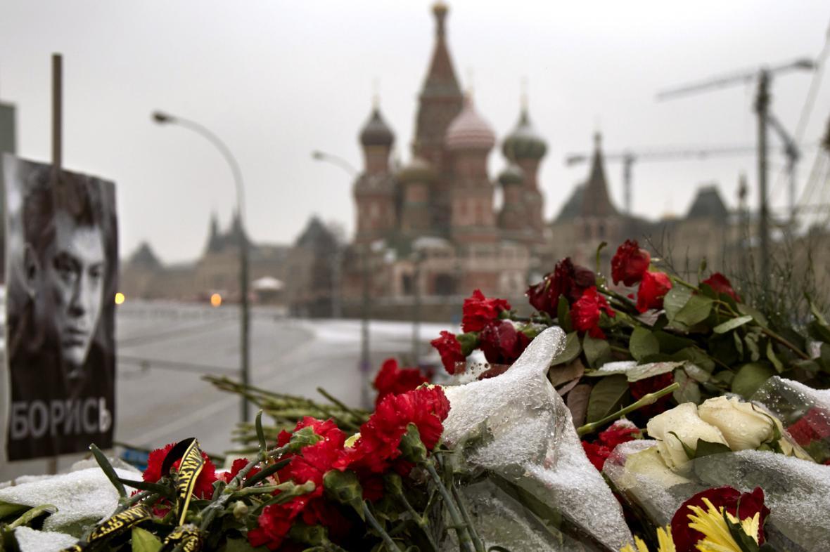 Místo, kde zavraždili Borise Němcova