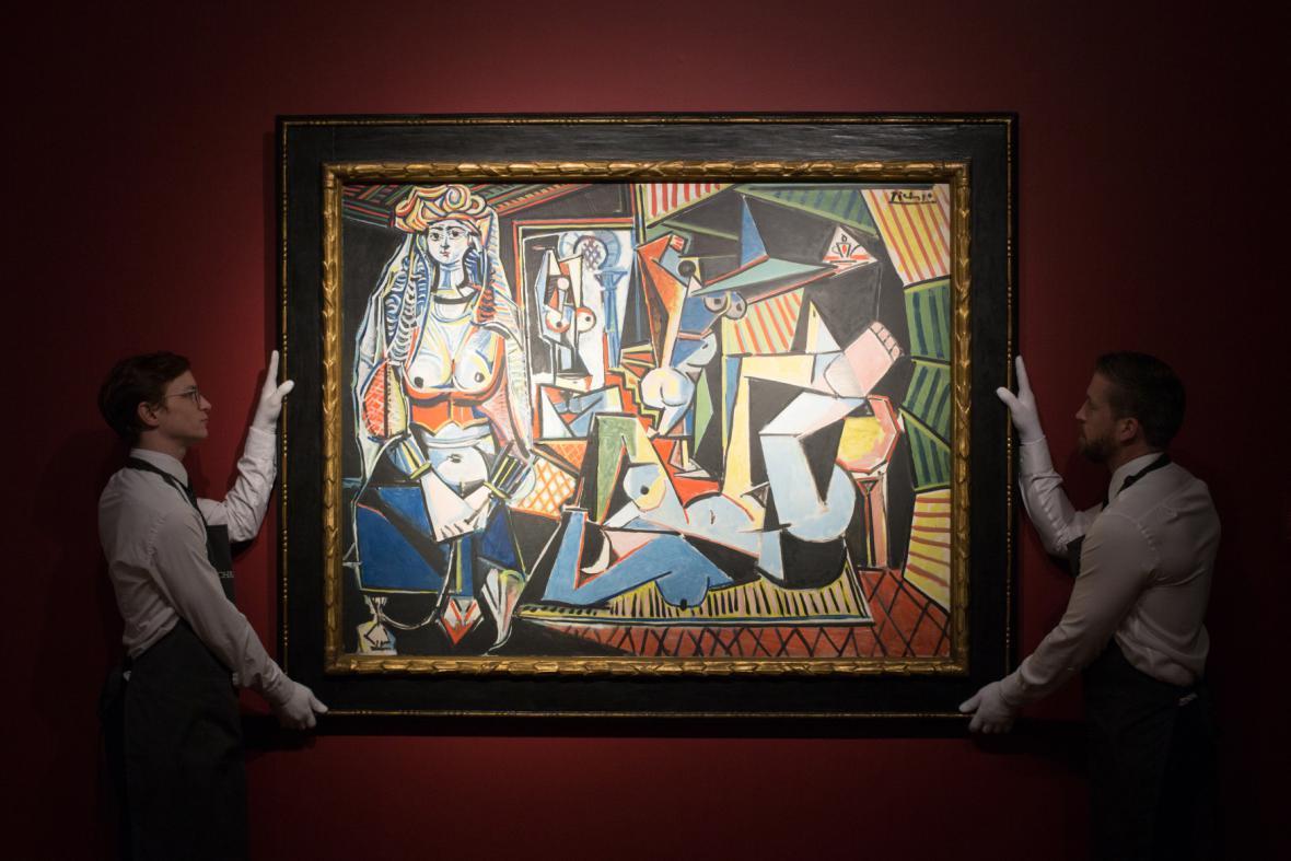 Alžírské ženy Pabla Picassa v aukční síni