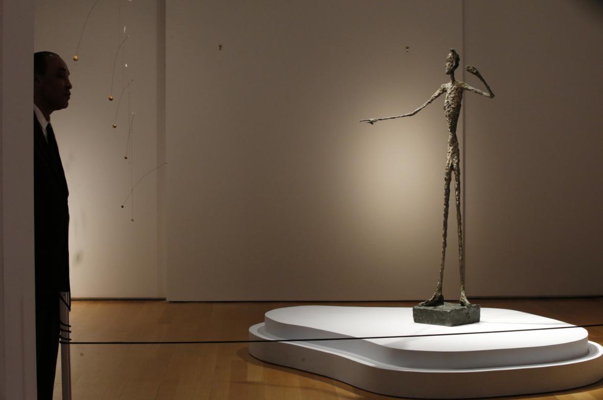 Ukazující muž Alberta Giacomettiho