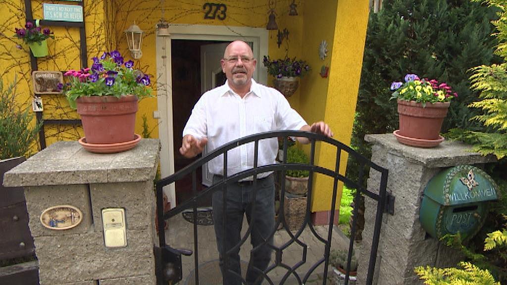 Gunter Oertel žije v malé vesničce nedaleko Aše