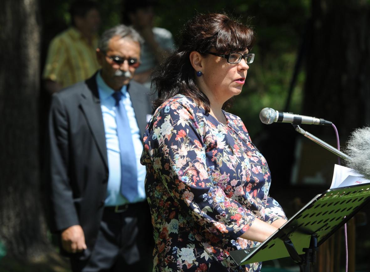 Pietní akt věnovaný romským obětem nacismu