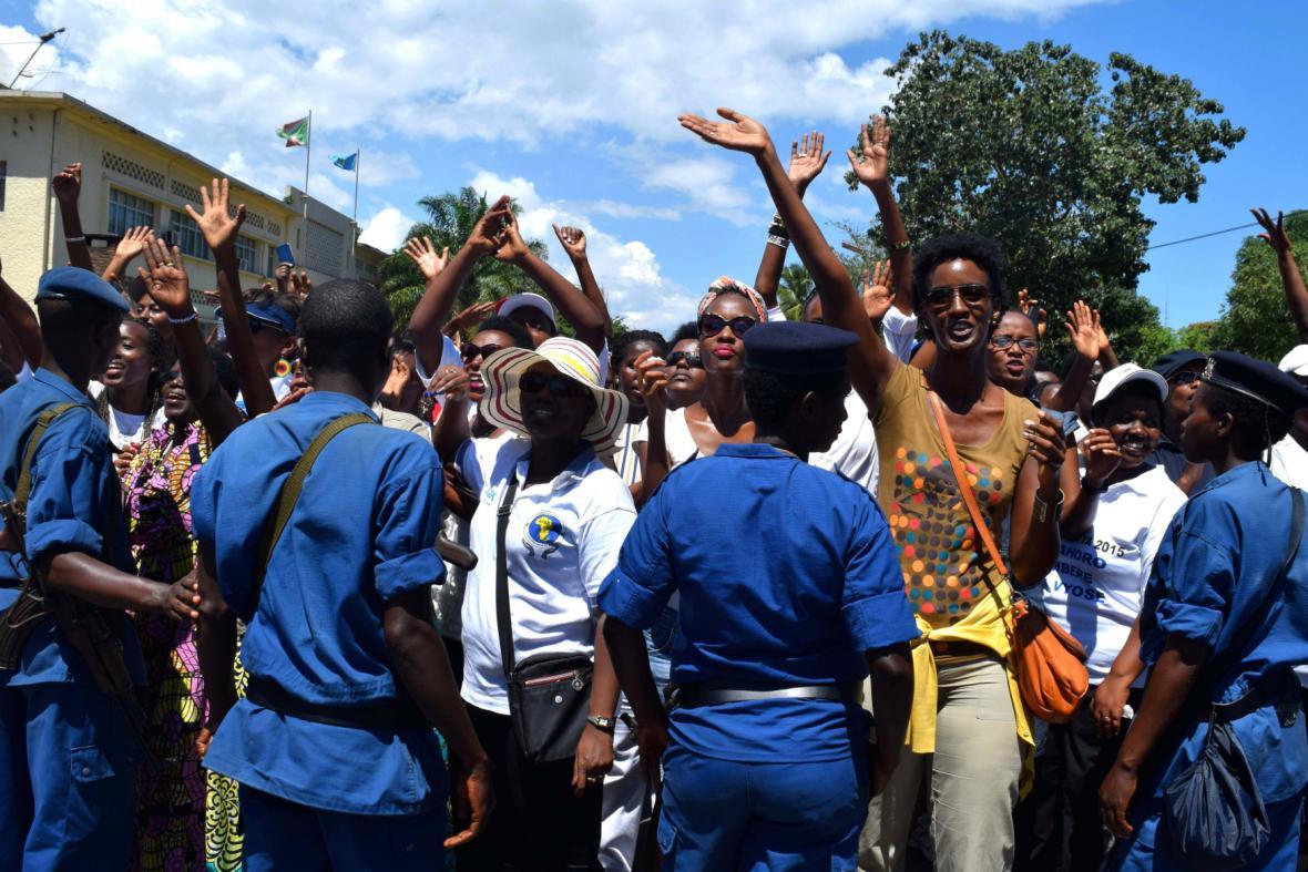 Protesty proti kandidatuře burundského prezidenta