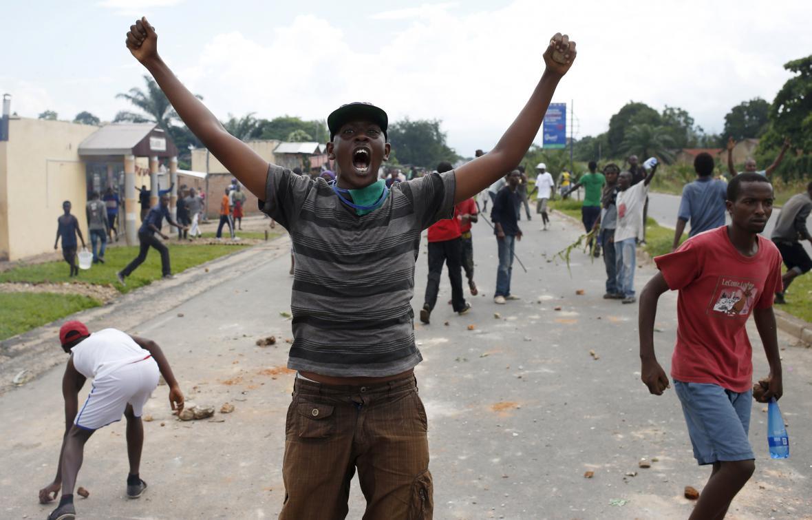 Protesty v ulicích Burundi