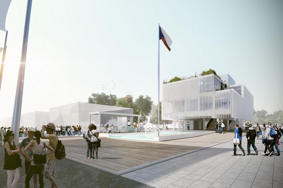 Vizualizace českého pavilonu na Expo 2015