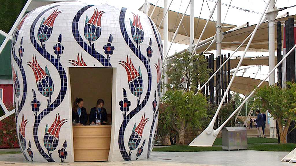 Pořadatelé na výstavě Expo 2015 v Miláně